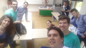 Selfi con con los compañeros de curso